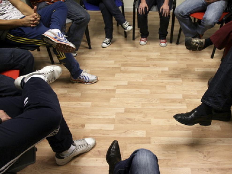 Sesión de terapia de la Fundación Centro Solidaridad