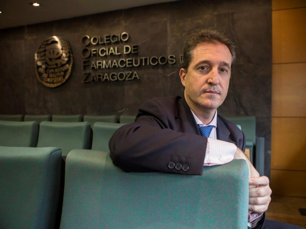 Ramón Jordán, presiden del Colegio Oficial de Farmacéuticos de Zaragoza.