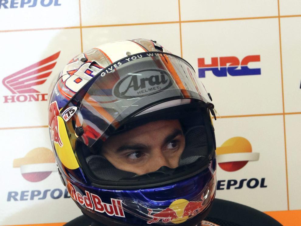 El piloto español Dani Pedrosa en el circuito de Le Mans.