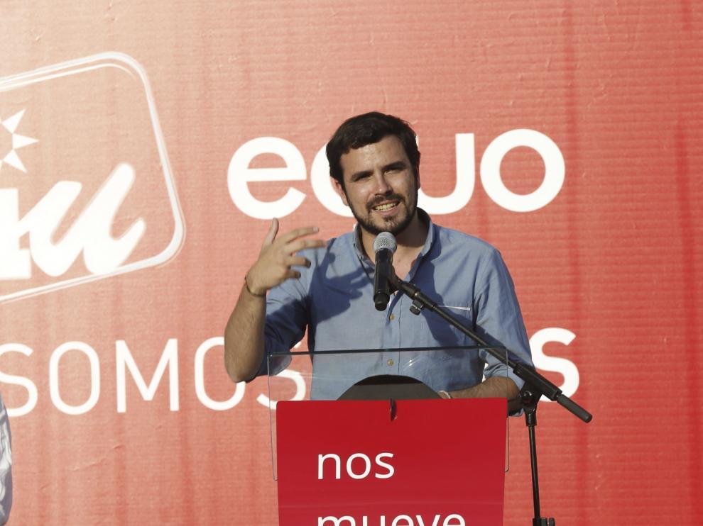 El candidato a la Presidencia del Gobierno de IU, Alberto Garzón.
