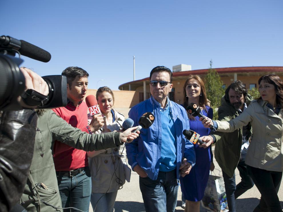 Ortega Cano a su salida de prisión.