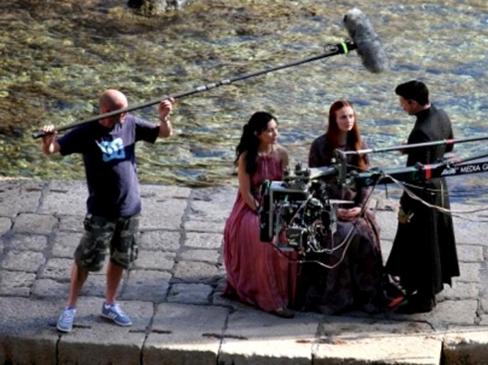 Secuencia de rodaje de la serie 'Juego de Tronos'