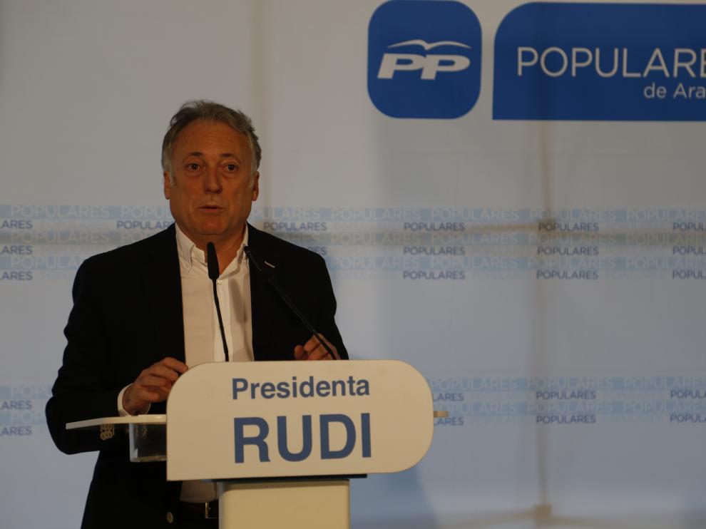 Octavio López, en la sede del PP de Zaragoza