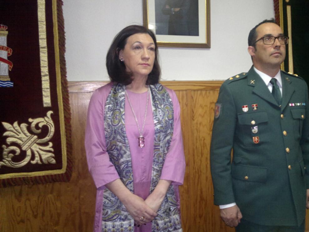 La subdelegada del Gobierno en la provincia, María José Heredia, ha asistido a la celebración del aniversario de la fundación de la Guardia Civil.