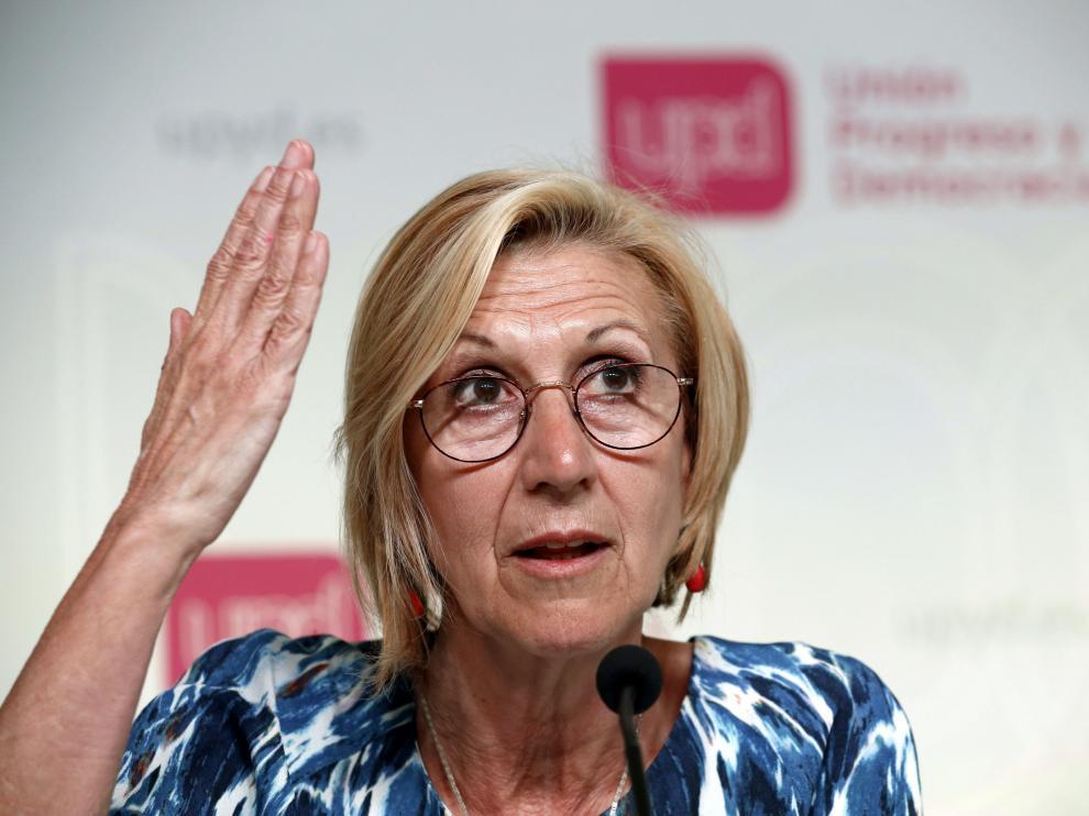 La secretaria general de UPyD, Rosa Díez.