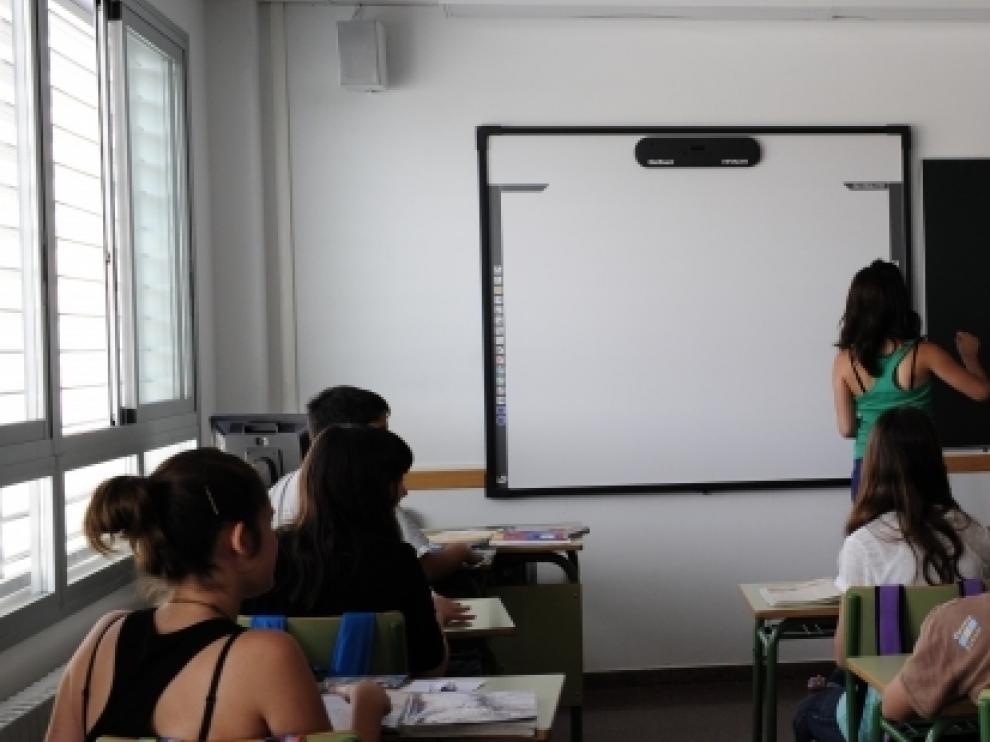 Alumnos del instituto Parque Goya en Zaragoza