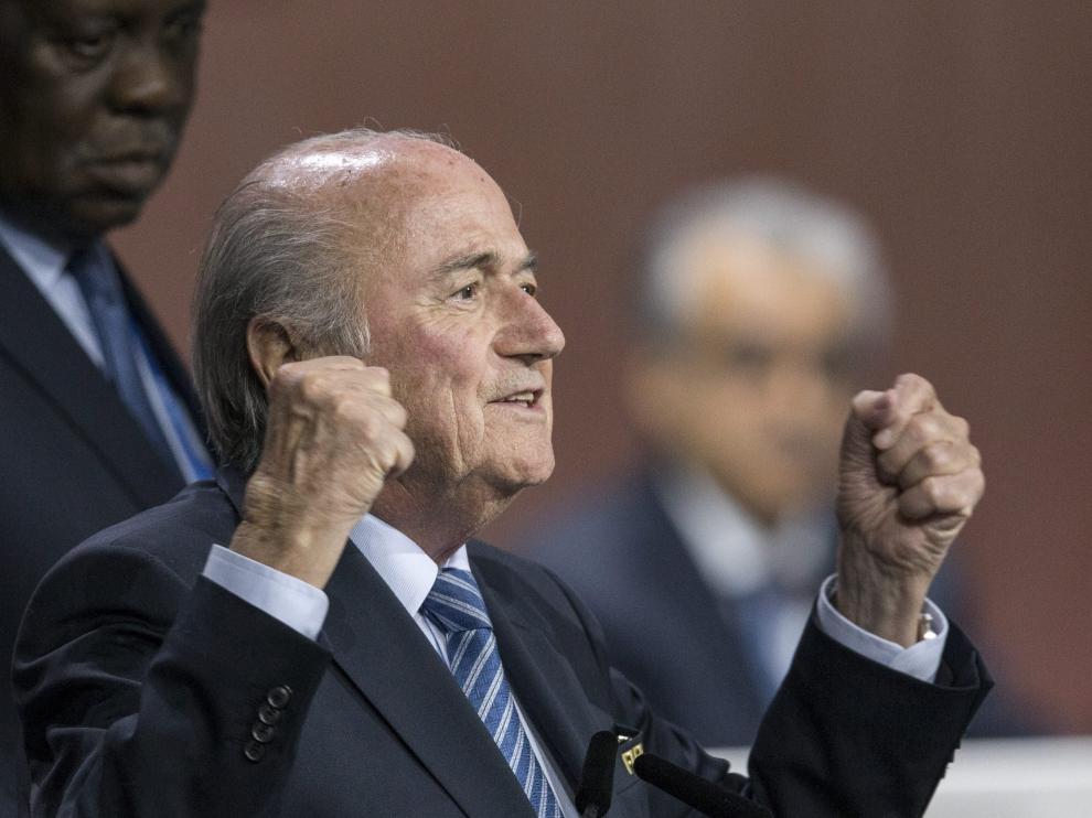 El presidente de la Federación Internacional de Fútbol (FIFA), Joseph Blatter.