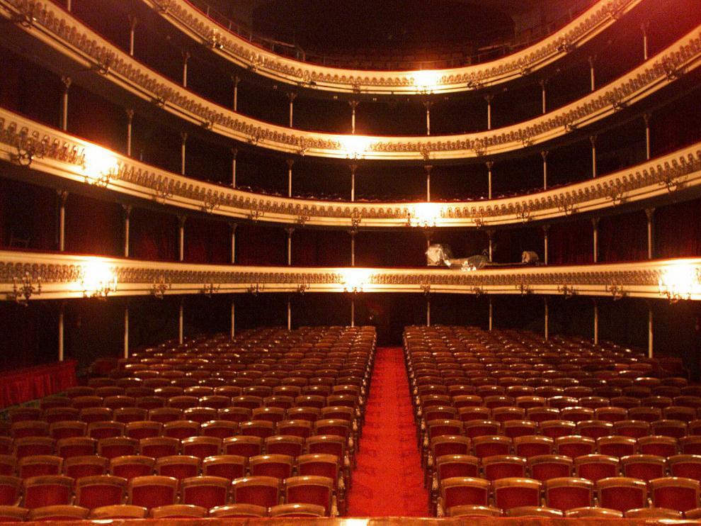 Patio de butacas del Teatro Principal de Zaragoza
