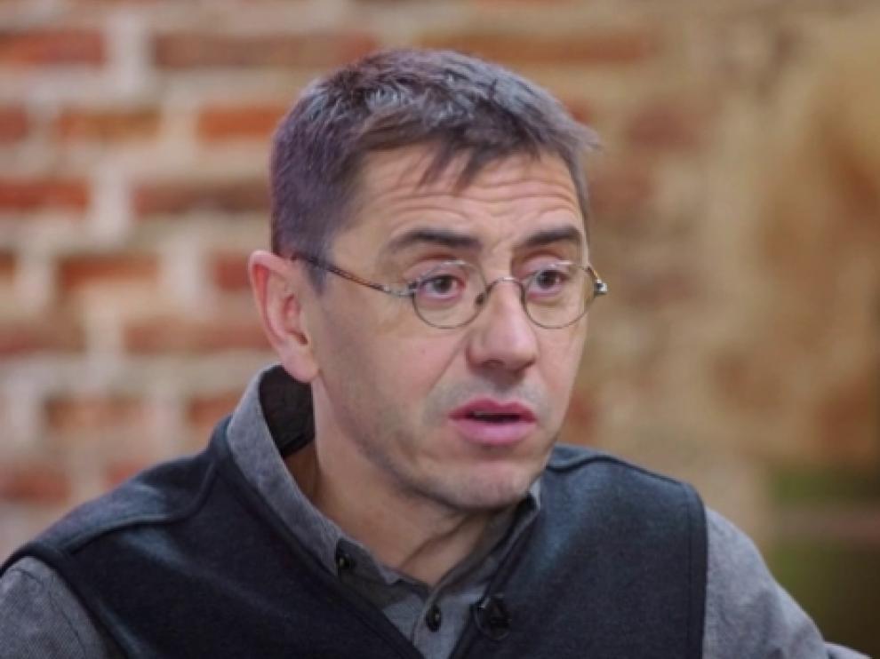 Juan Carlos Monedero en el programa de Antena 3 'Al rincón de pensar'