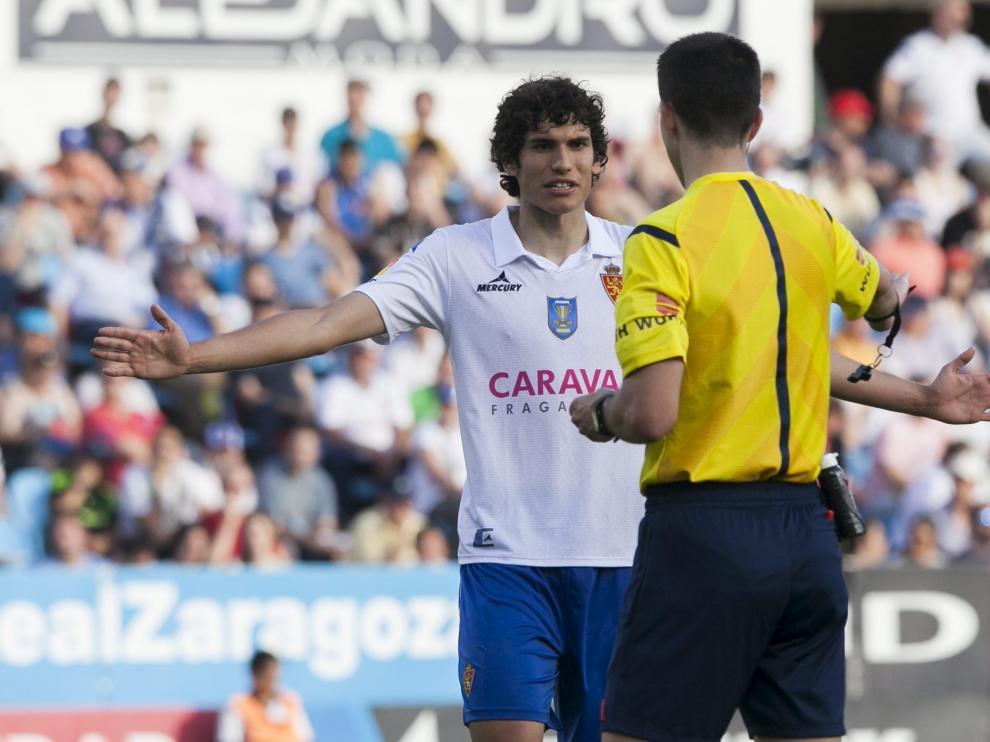 Vallejo, durante el partido contra el Albacete