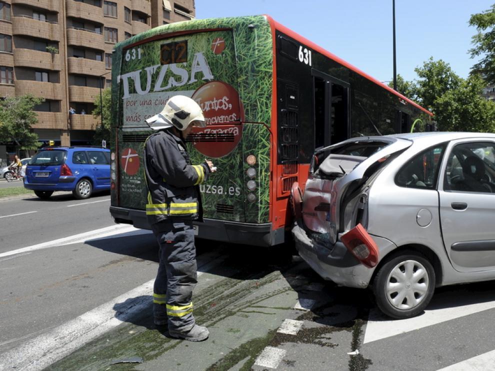 Los accidentes de tráfico repuntan por primera vez desde la Expo en Zaragoza