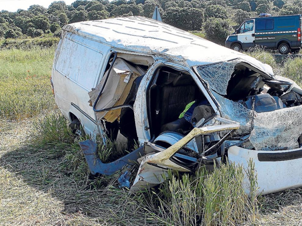Accidente mortal ocurrido en 2010 en las inmediaciones de Ólvega.