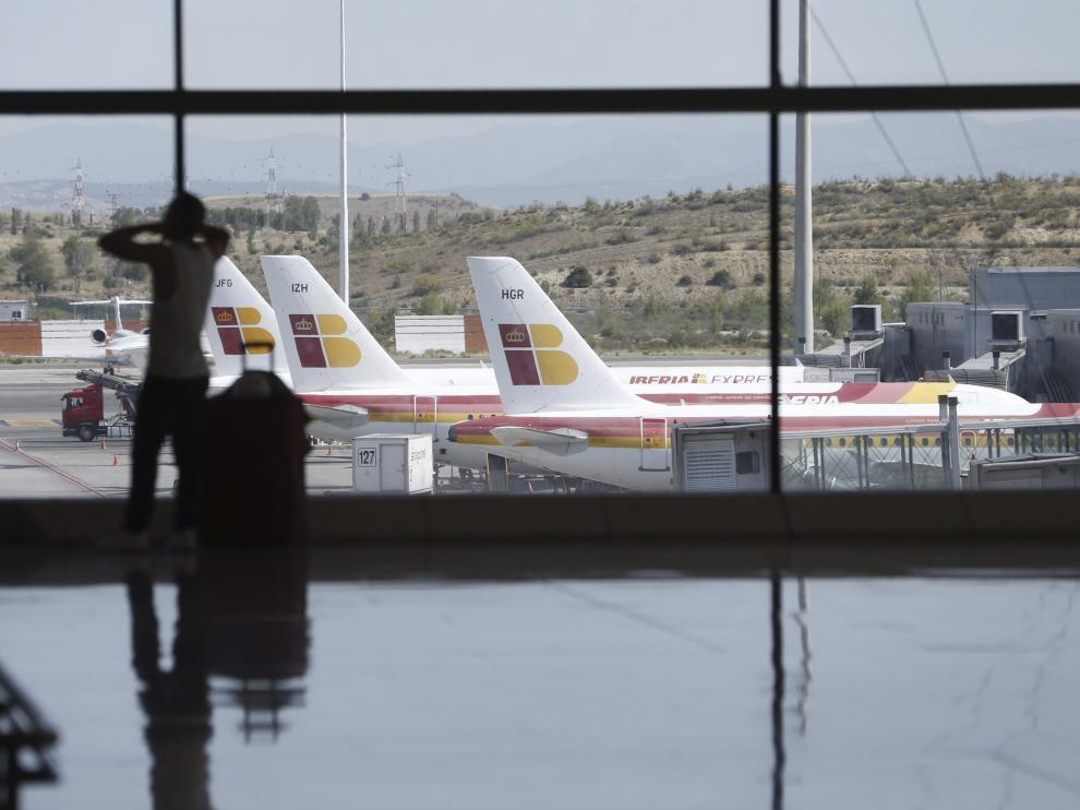 Vista de la T-4 del aeropuerto Adolfo Suárez Madrid-Barajas.