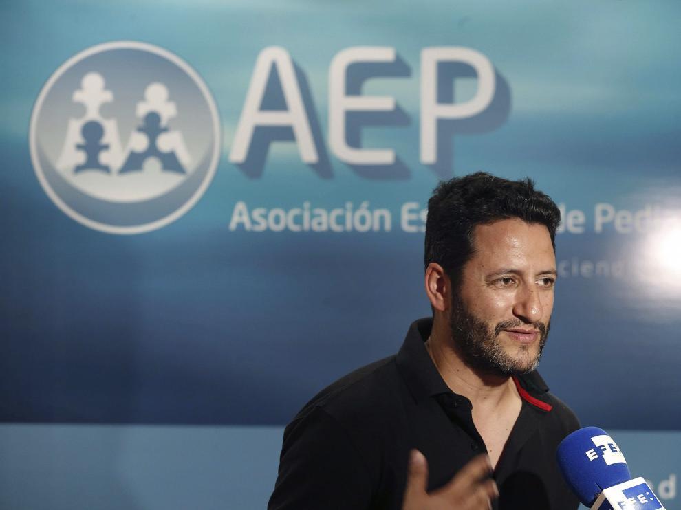 El coordinador del Comité Asesor de Vacunas, David Moreno, durante sus declaraciones sobre el caso de difteria en España.