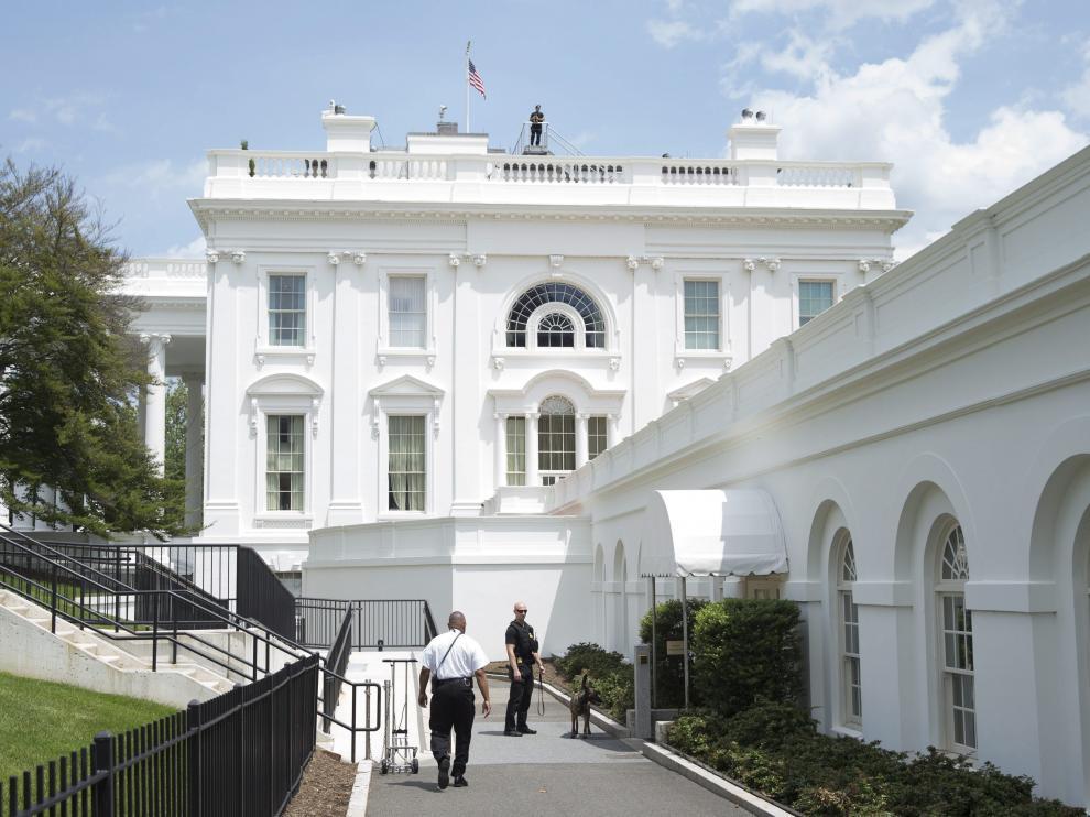 Foto de archivo de una zona de la Casa Blanca
