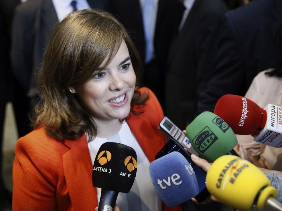 Soraya Sáenz de Santamaría en la III Cumbre de Internacionalización.