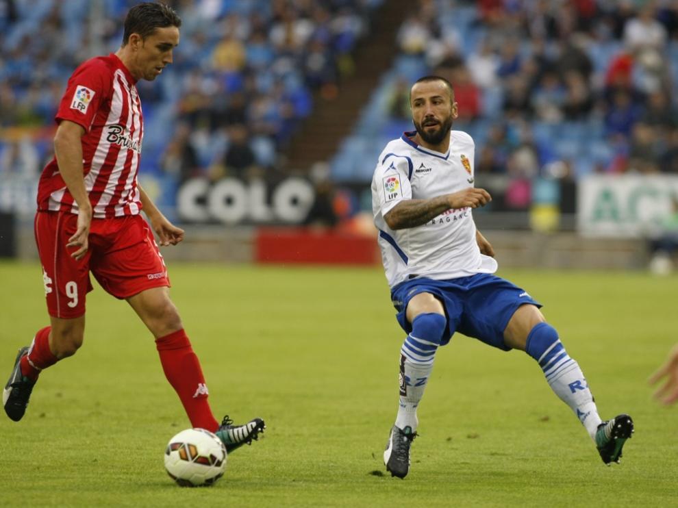 Un momento del Real Zaragoza-Girona