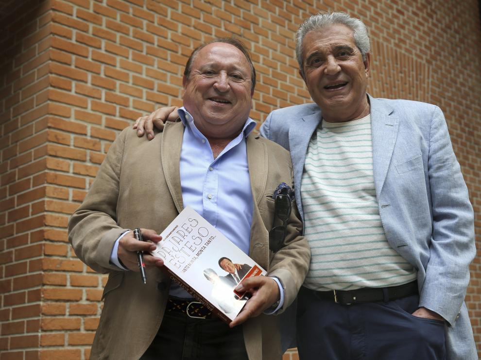 Fernando Esteso y Andrés Pajares, este jueves en Madrid