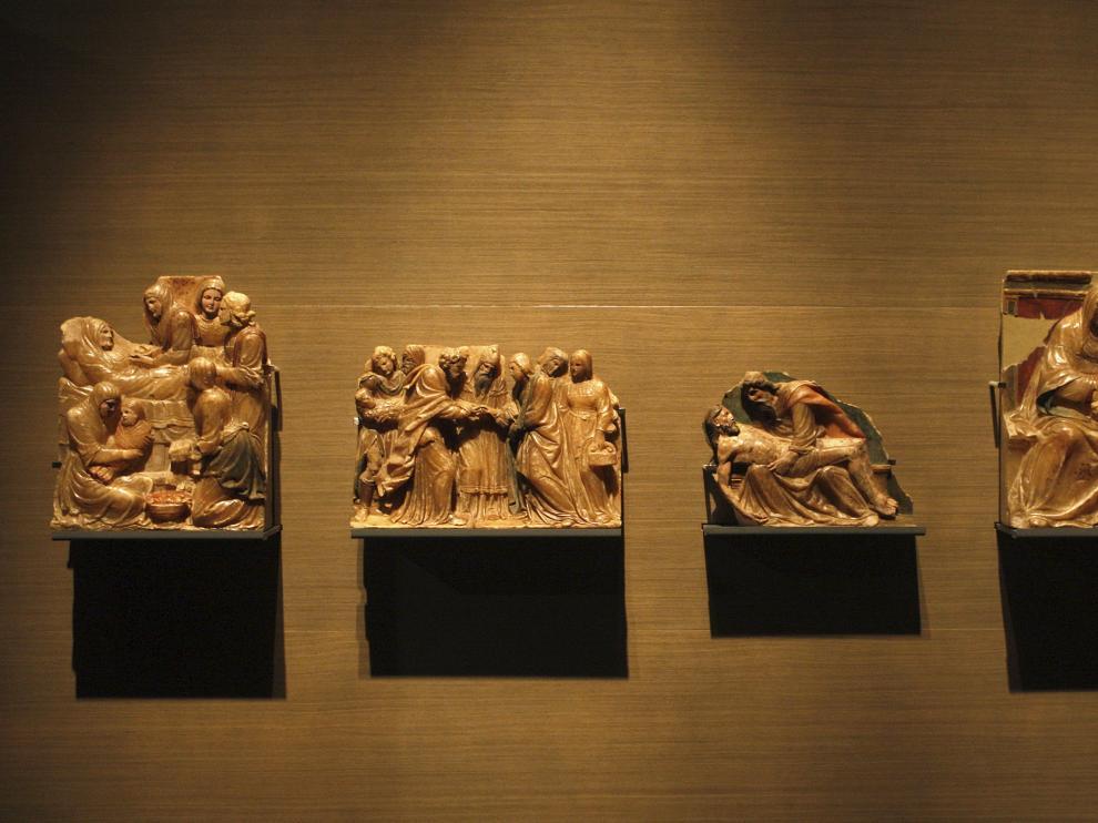 Algunas de las piezas que deberán de ser devueltas a Villanueva de Sijena.