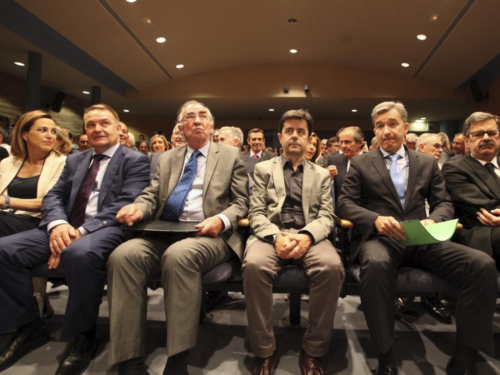 Actos del 75 aniversario de la llegada de Ibercaja a Huesca