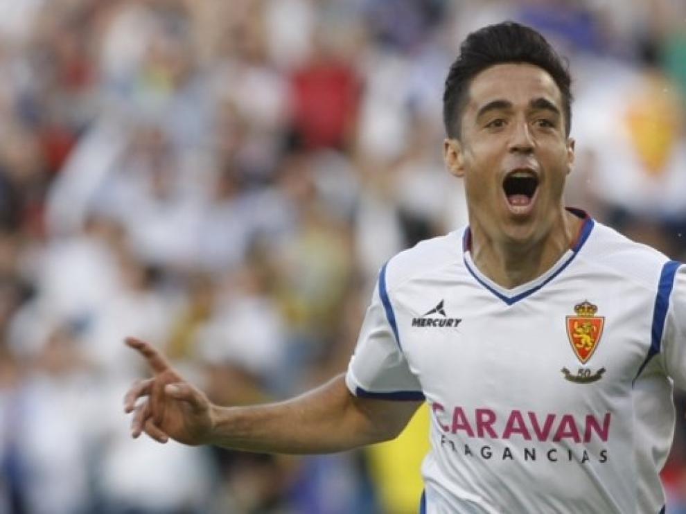 Pedro celebra uno de los goles