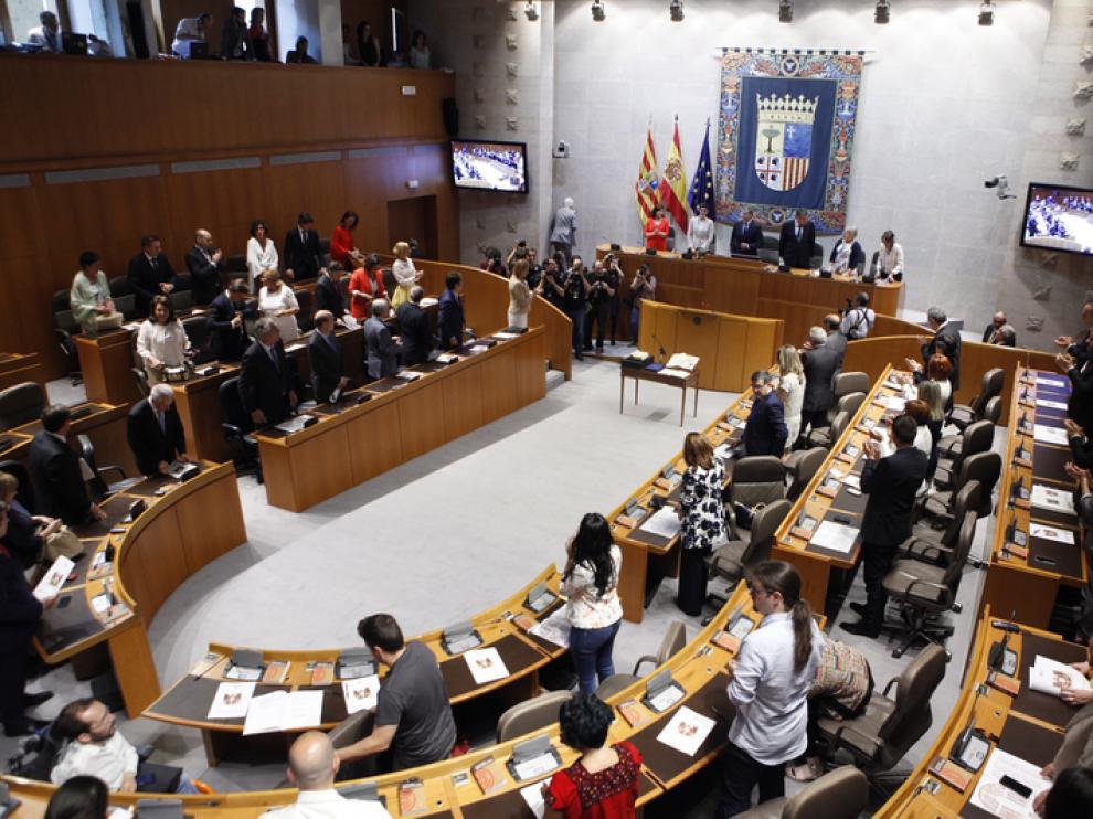 Una sesión constitutiva de las Cortes de Aragón.