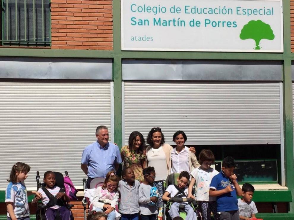 El colegio de San Martín de Atades tiene 112 alumnos. El objetivo es que con el nuevo centro haya 150 plazas.