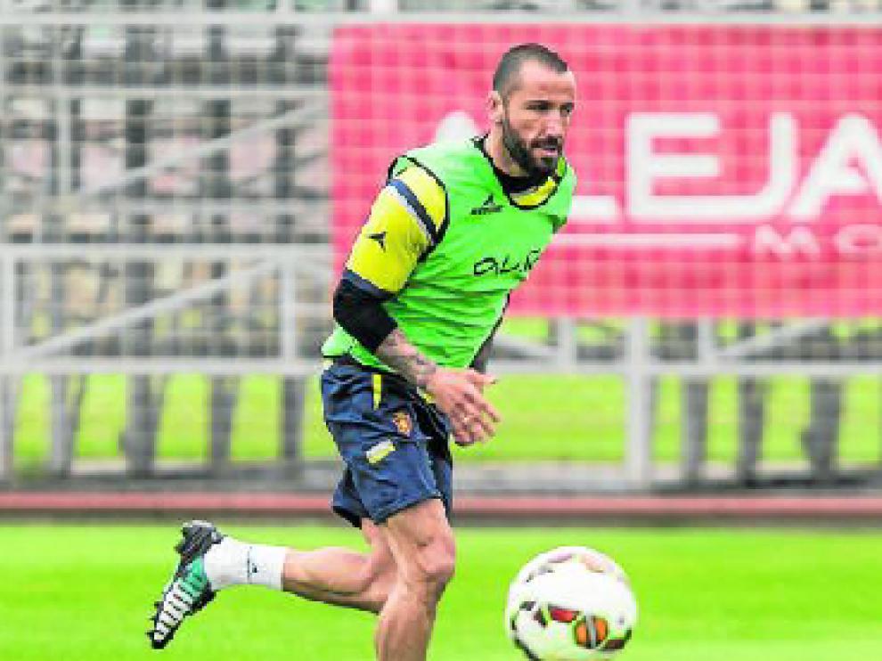 Mario Abrante, en un esfuerzo durante el entrenamiento.