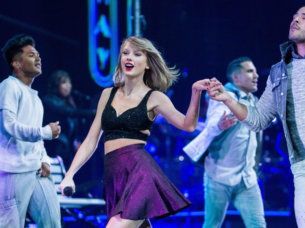 La cantante Taylor Swift durante un concierto en Alemania.