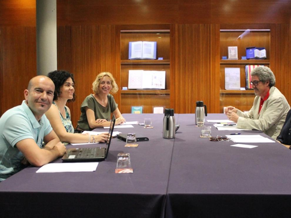 Los representantes de las cuatro formaciones se reunieron este lunes
