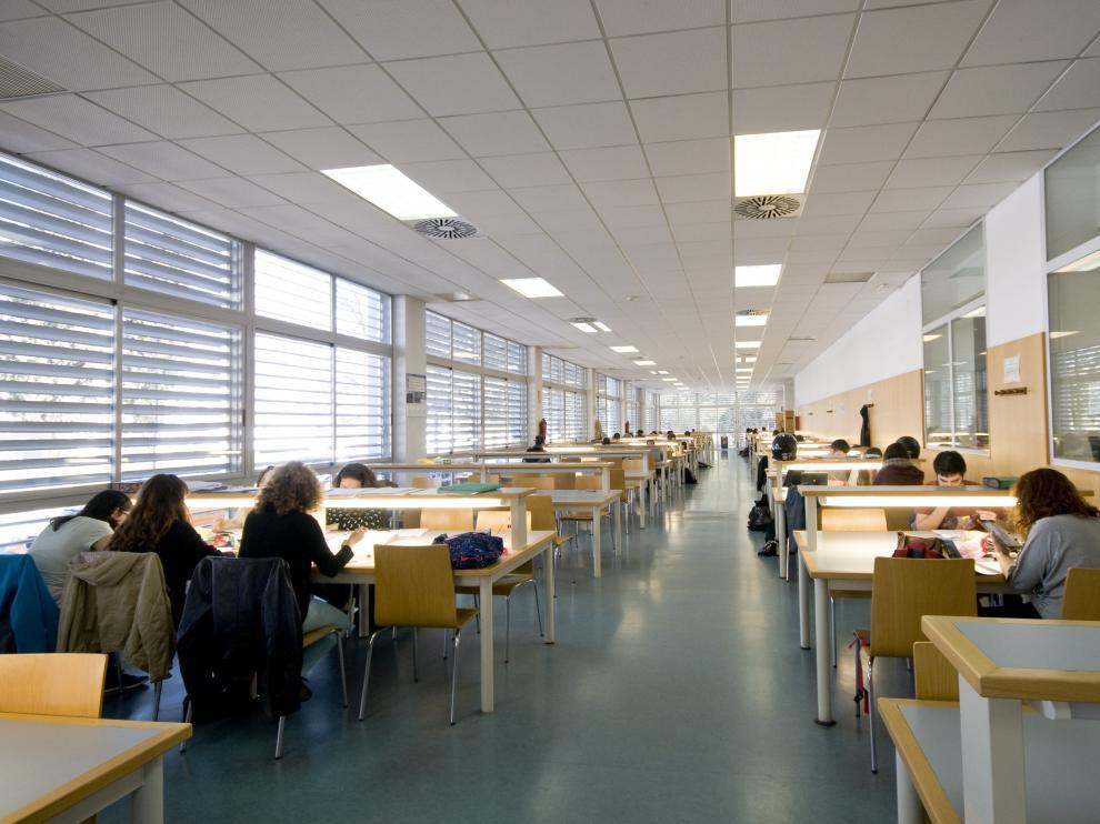La biblioteca de la Facultad de Ciencias.