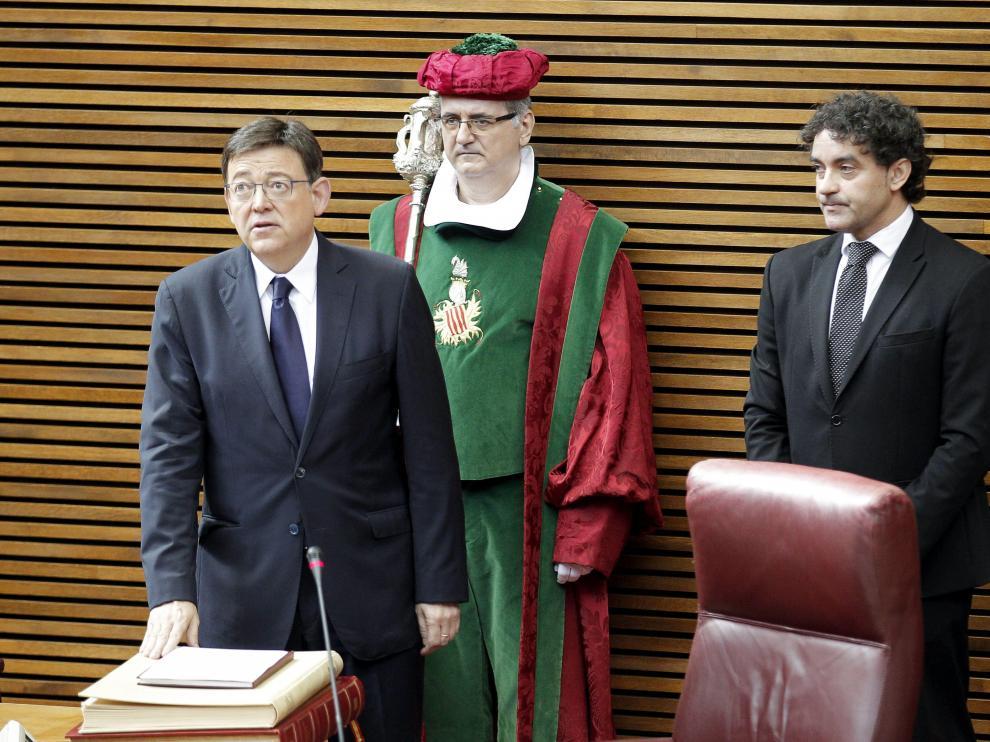 Ximo Puig promete su cargo como nuevo presidente de Valencia