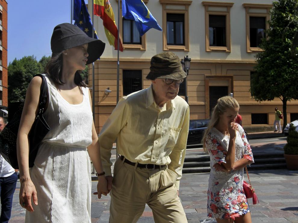 Woody Allen y Soon-Yi en Oviedo.