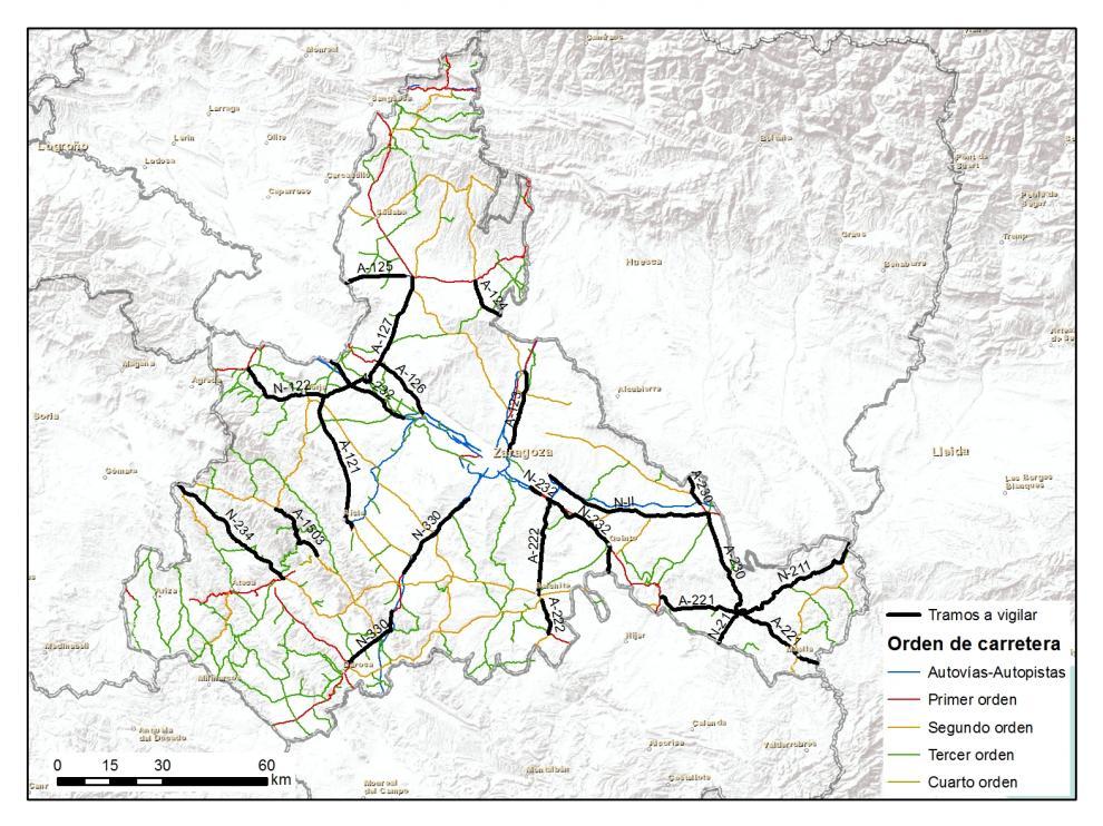 Radares de la DGT en la provincia de Zaragoza