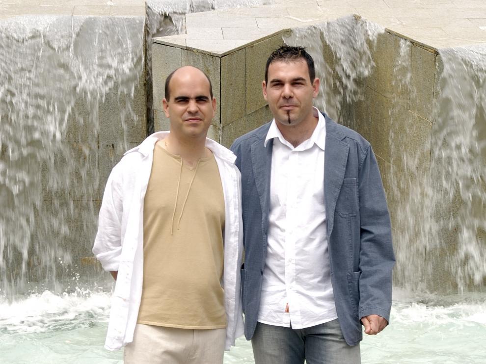 David y Juan, el día de su boda, en 2006