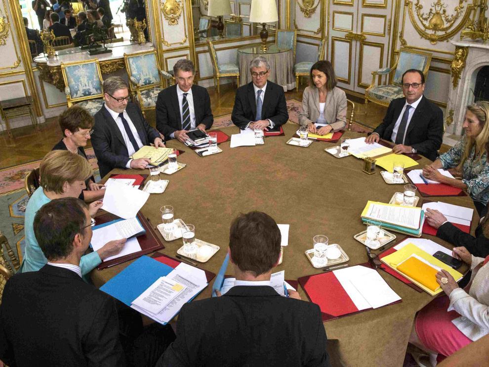 Reunión de Merkel y Hollande