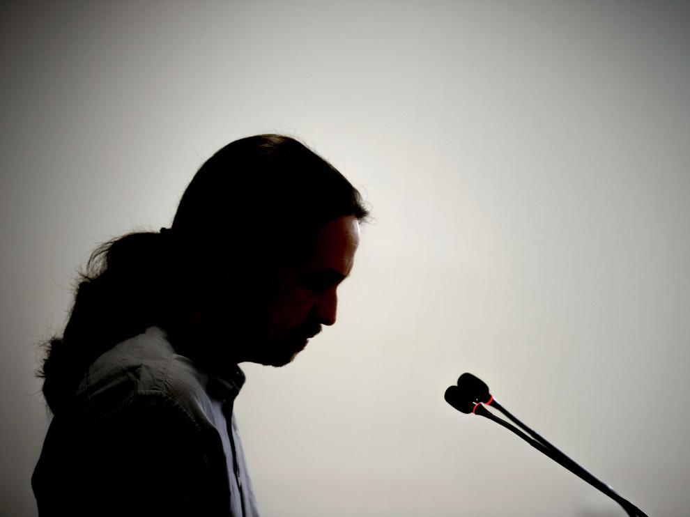 Pablo Iglesias, durante una rueda de prensa