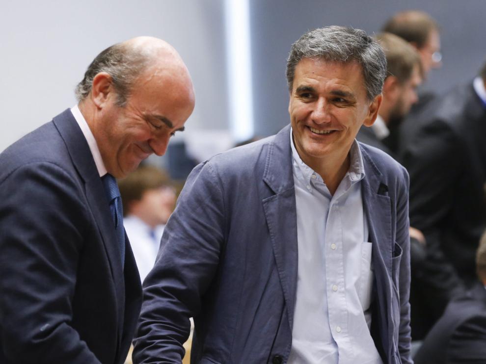 De Guindos, junto al nuevo ministro griego de Finanzas