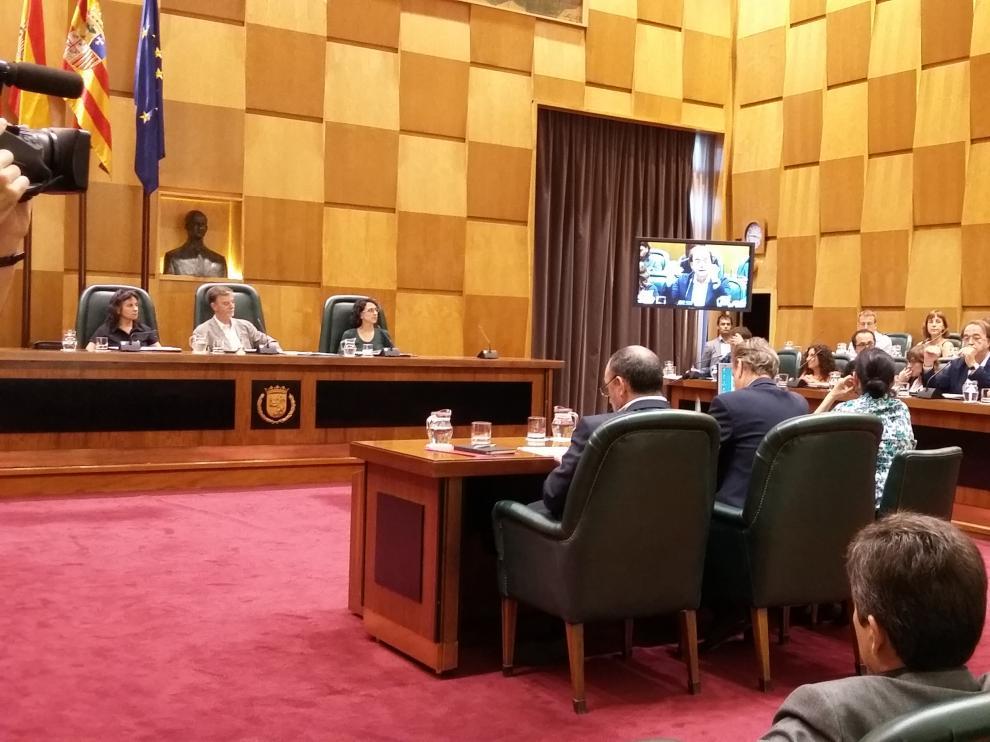 Imagen del pleno del Ayuntamiento de Zaragoza.