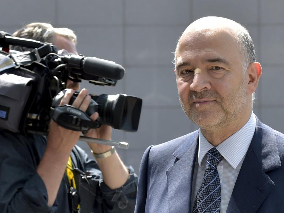 Moscovici llega al encuentro en Bruselas