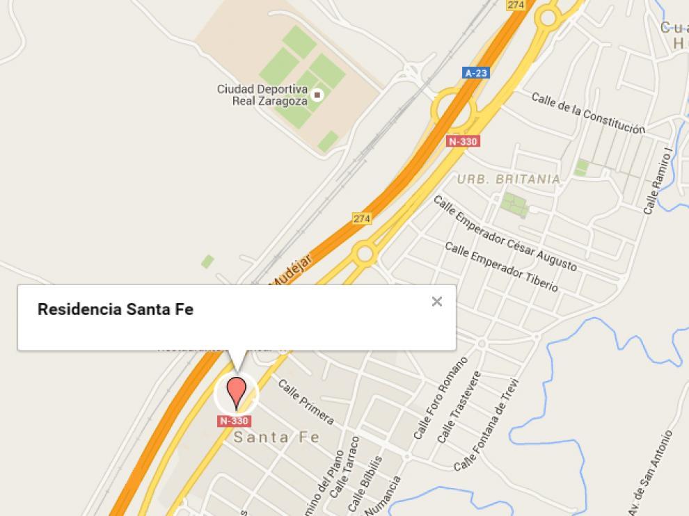 Localización de la residencia