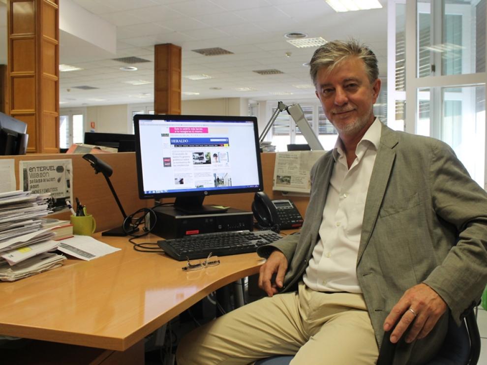 Pedro Santisteve, en la redacción de Heraldo.es