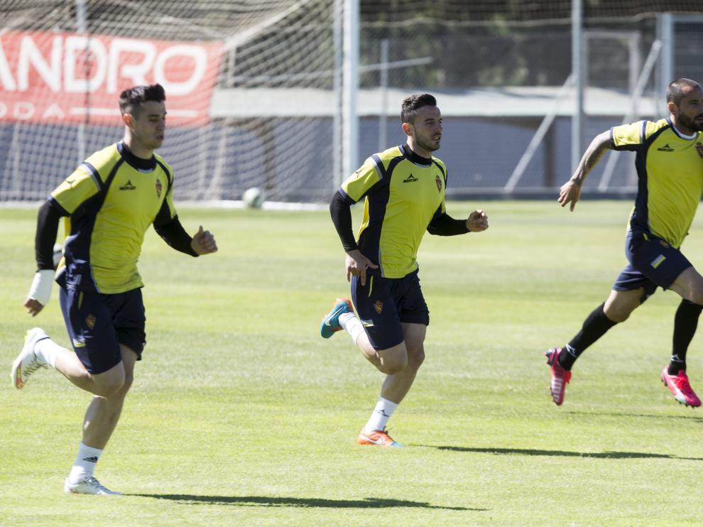 Entrenamiento de Real Zaragoza en la ciudad deportiva.