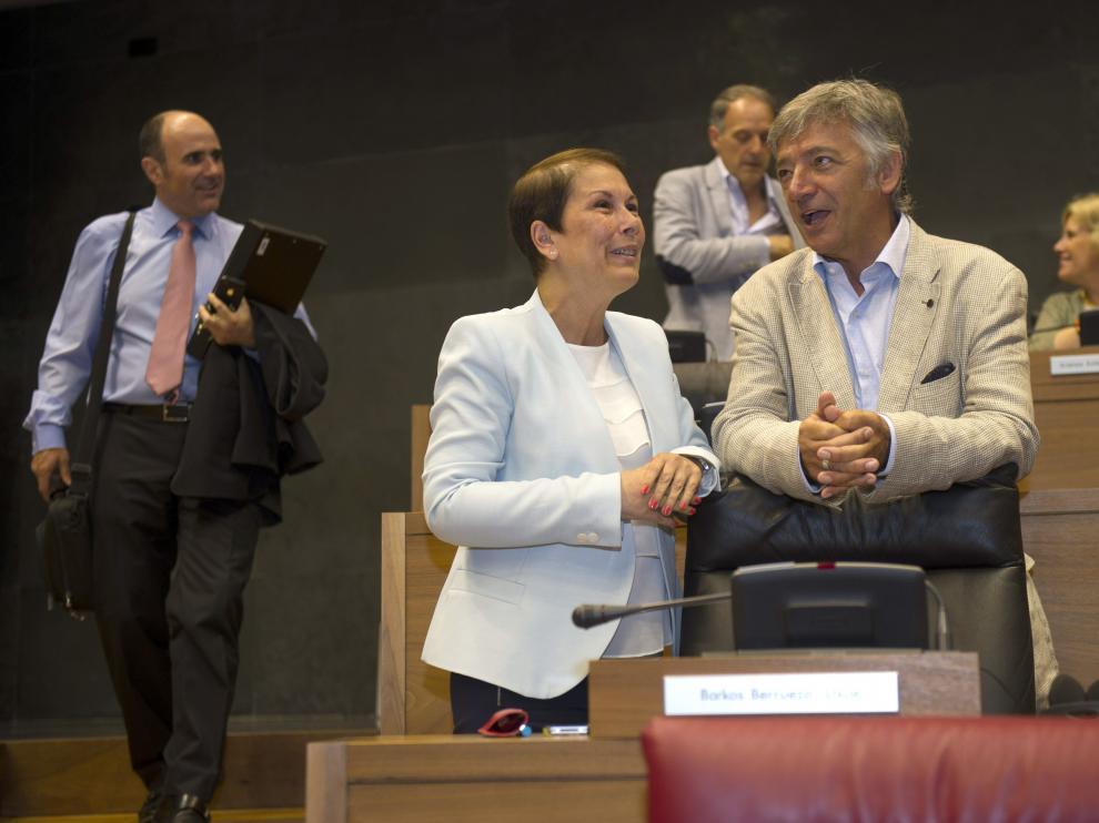 Uxue Barkos en el parlamento Navarro