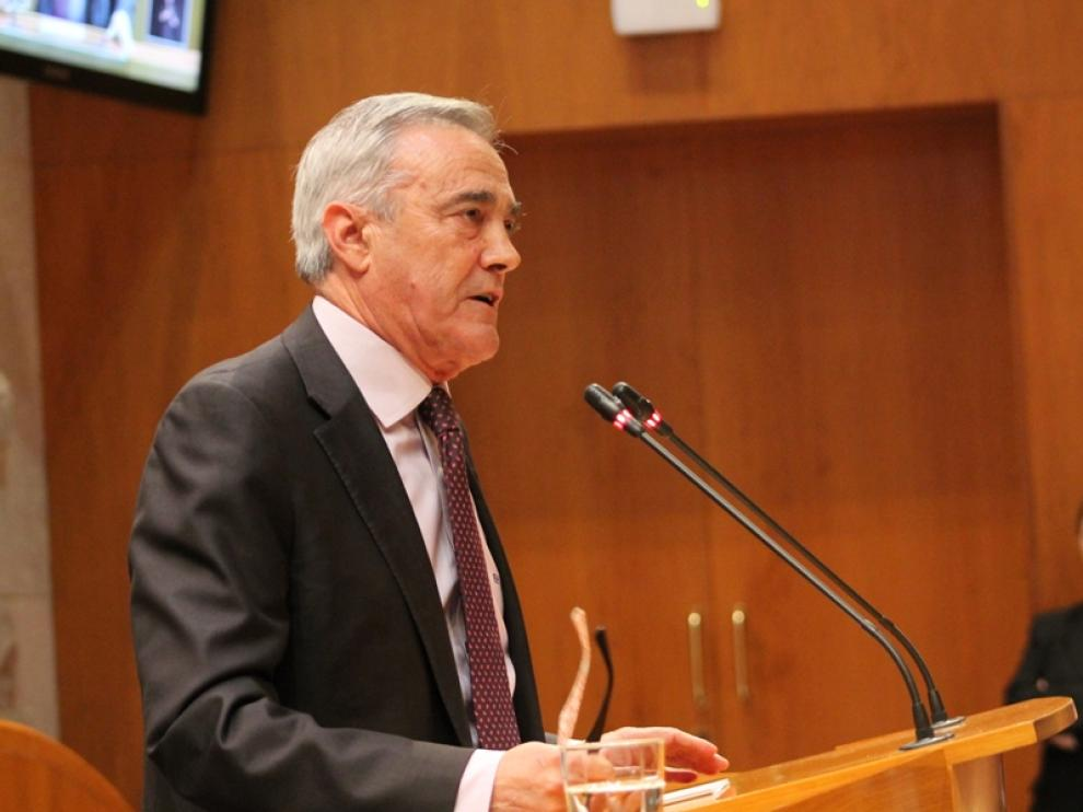 Javier Sada en las Cortes de Aragón, imagen de archivo.