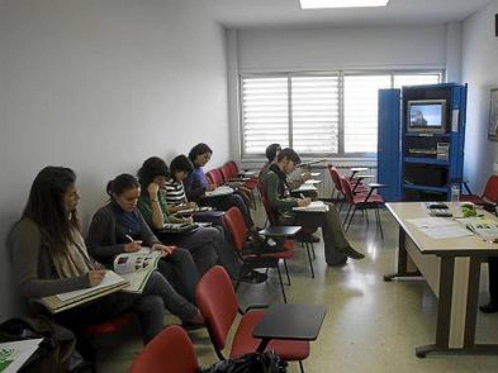 Un grupo de alumnos en una clase del Centro Universitario de Lenguas Modernas.