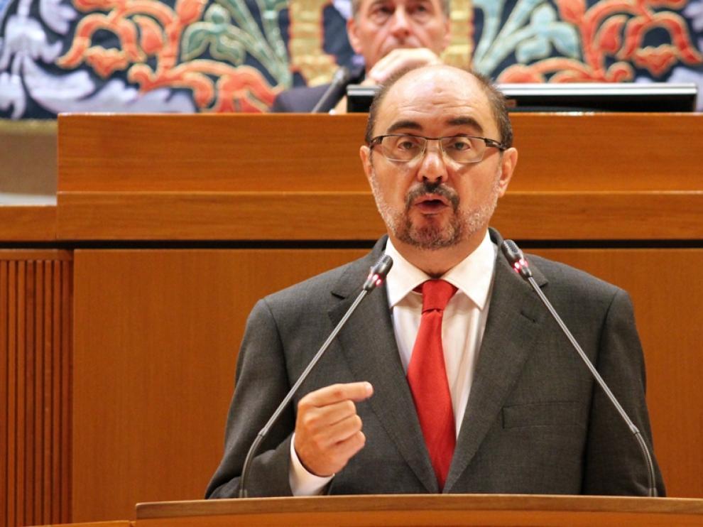 Javier Lambán, presidente de la Diputación General de Aragón.
