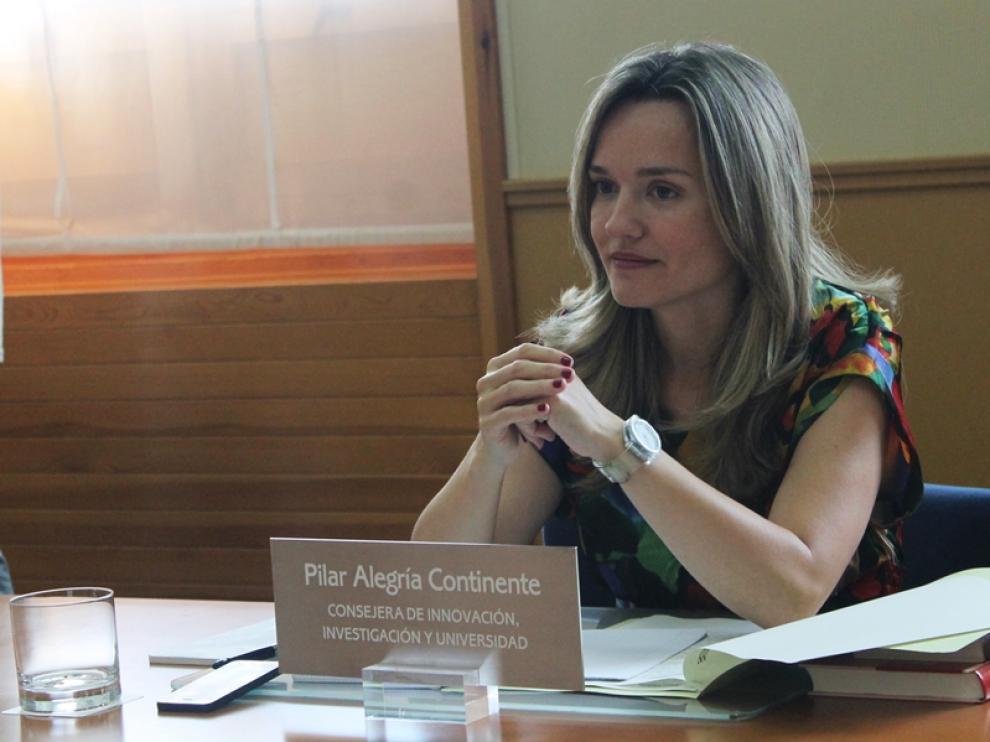 Pilar Alegría en una foto de archivo.