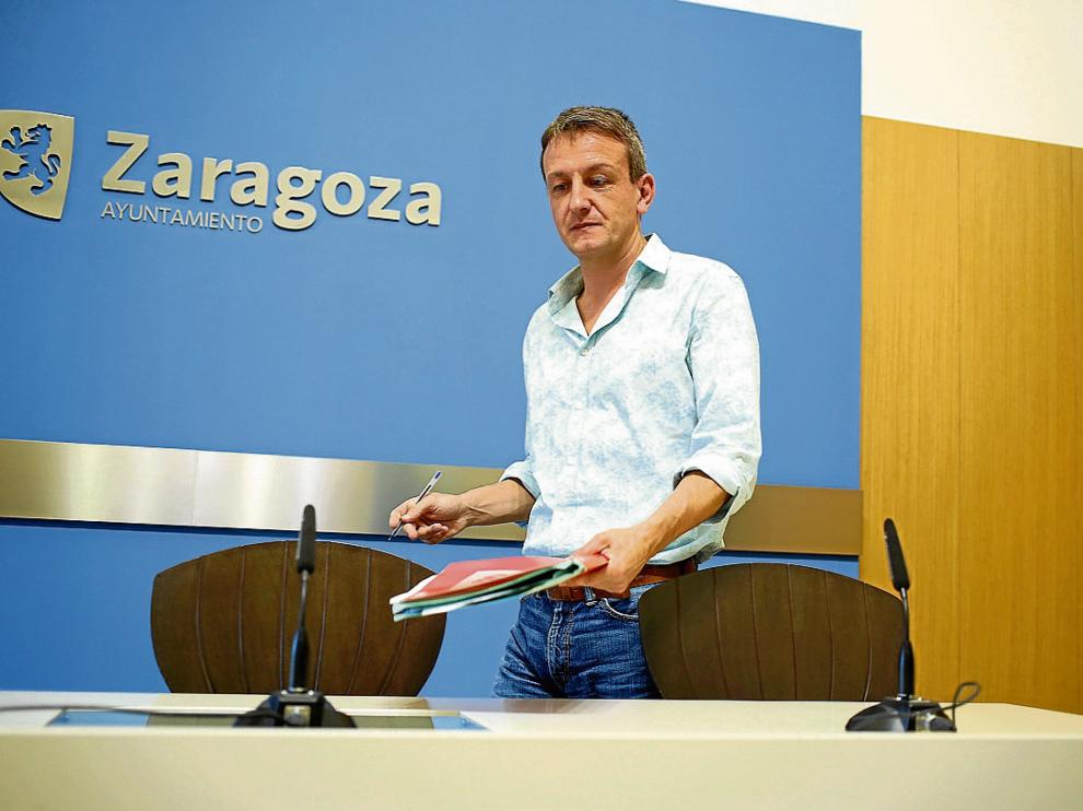El concejal de Economía y Cultura, Fernando Rivarés, en imagen de archivo