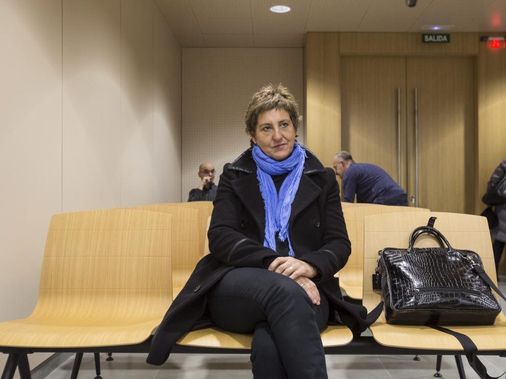 María Victoria Pinilla, en la Ciudad de la Justicia